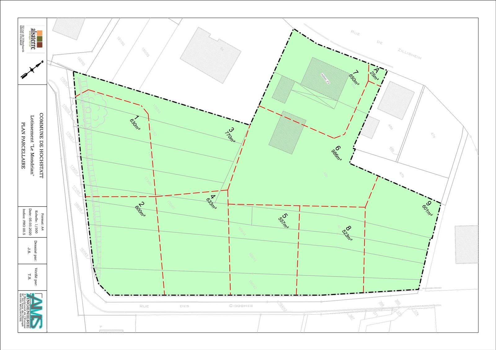 Terrain à bâtir plan Hochstatt Alsaterre